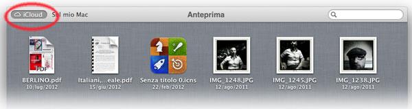 Documenti iCloud in Anteprima