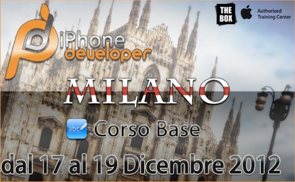 - 17-18-19 Dicembre a MILANO il corso BASE di programmazione iOS