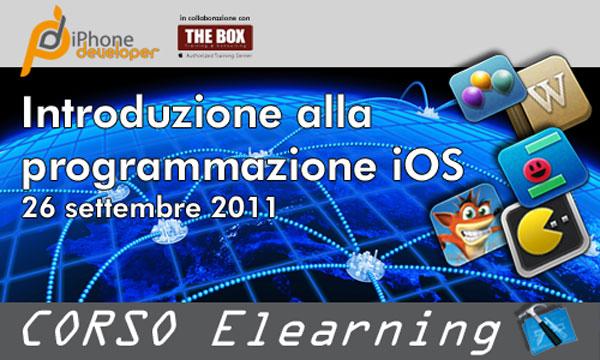 iPhoneDeveloper - corso online di introduzione alla programmazione su iOS