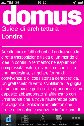 Domus Guida Architettura Londra