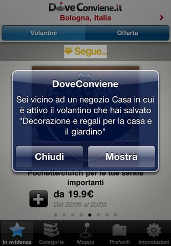 DoveCoviene per iPhone e iPad