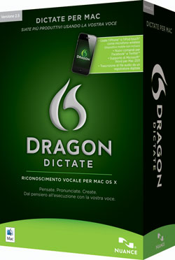 Dragon Dictate 2.5 per Mac Italiano