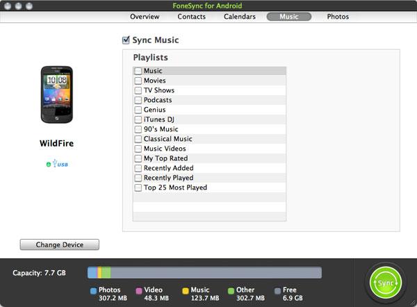 FoneSync per HTC