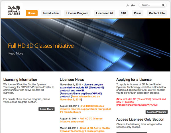 Full HD 3D Glasses Initiative