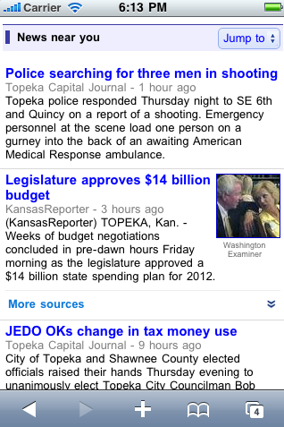 Google News Near You, notizie geolocalizzate in versione USA