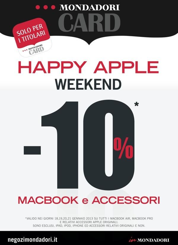 Mondadori: 10% di sconto su portatili e accessori Apple