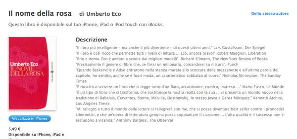 iBook Store - Il nome della rosa