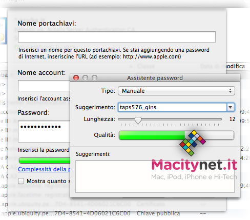 Generatore password portachiavi