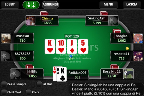 PocketStars per iPhone e iPad