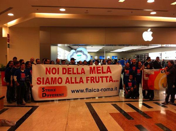 sciopero apple store roma