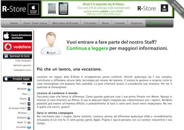R-Store ricerca personale novembre 2011