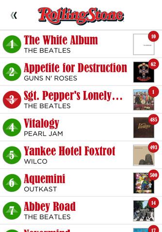 Rolling Stone 500 Album per iPhone