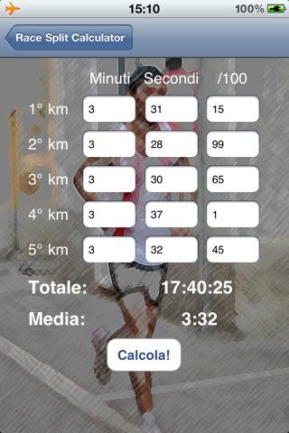 Race Split Calculator