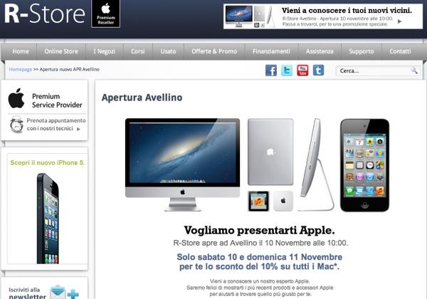 Sabato 10 Novembre alle ore 10 apre il settimo punto vendita della R-Store in Avellino