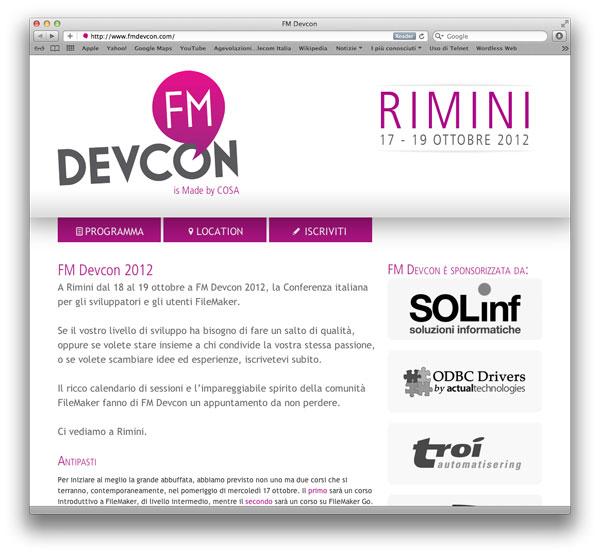 sito web FM Devcon