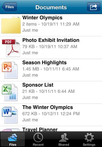 Microsoft SkyDrive per iPhone