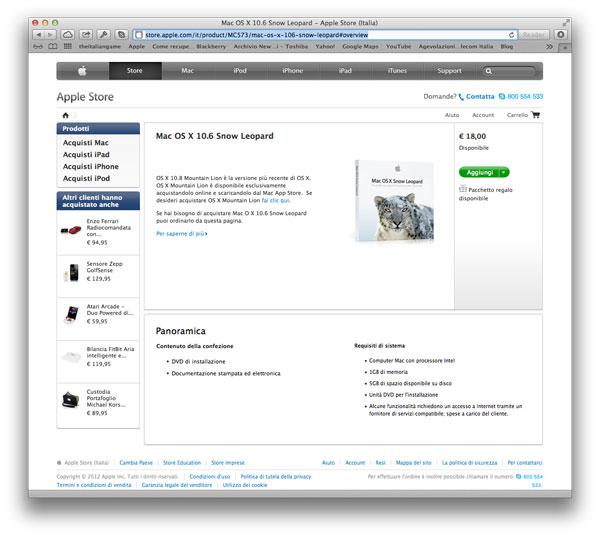 Snow Leopard App Store