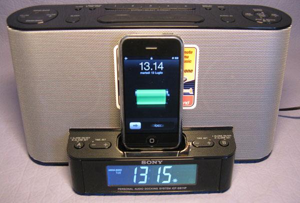 Sony icf ds11ip musica in casa e radiosveglia per iphone for Kit casa icf