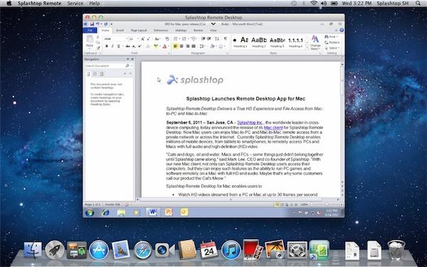 Splashtop Remote Desktop per Mac