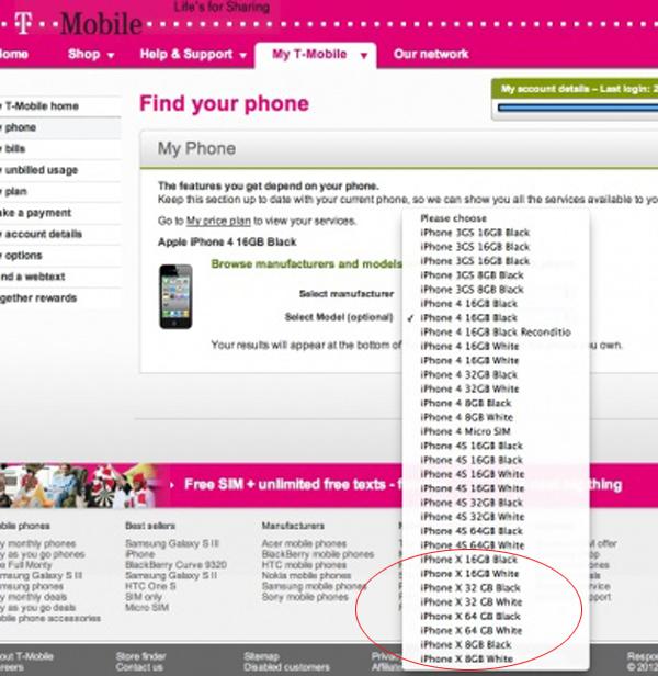t-mobile segnaposto iPhone 5
