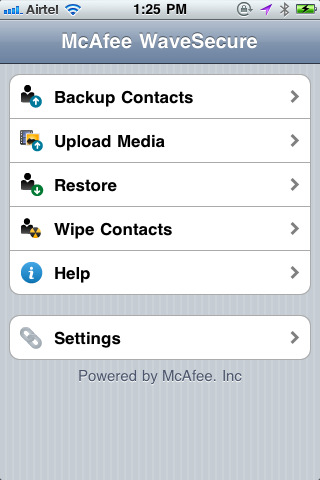 McAfee WaveSecure per iPhone e iPad