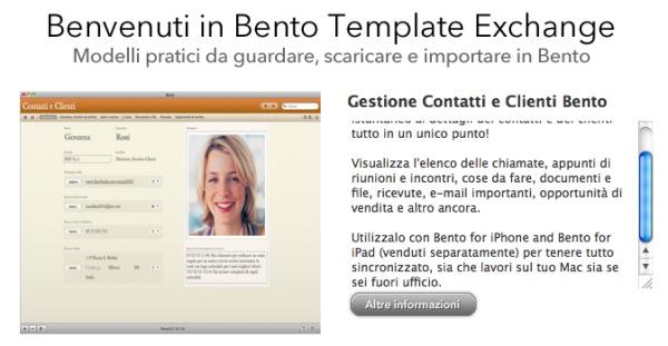 bento template exchange
