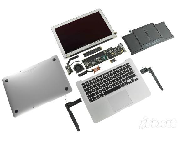 macbook air 2011 smontato