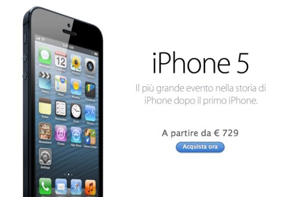 iPhone 5 su Apple Store online italia