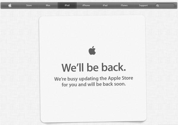 apple store chiuso nuova grafica