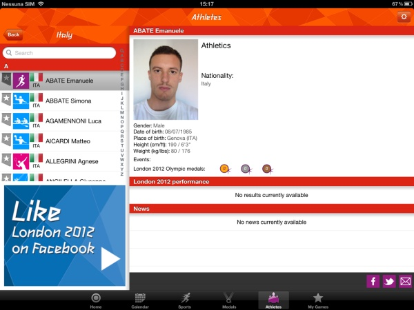 london 2012 app ufficiale