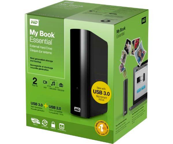 Western Digital WDBACW0020HBK MY BOOK Essential