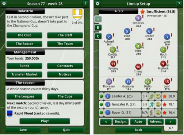 manageriale calcio iphone
