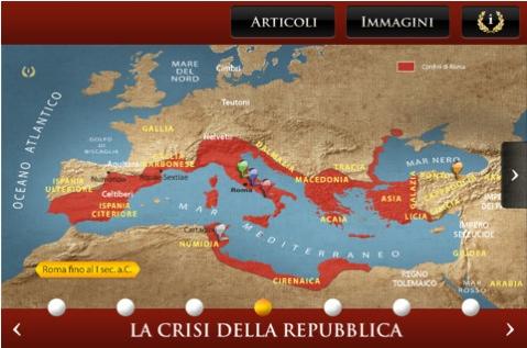 timemaps atlante storico di roma