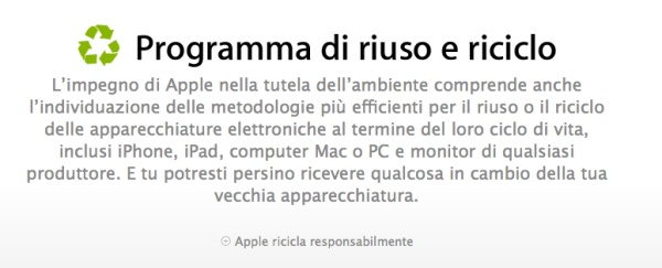 riciclo apple