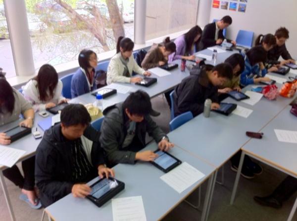 studenti con ipad
