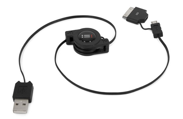 cavetto retrattile USB - Dock+micro USB