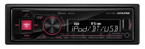 alpine ute 72bt nell 39 autoradio scompare il cd per fare spazio a iphone. Black Bedroom Furniture Sets. Home Design Ideas