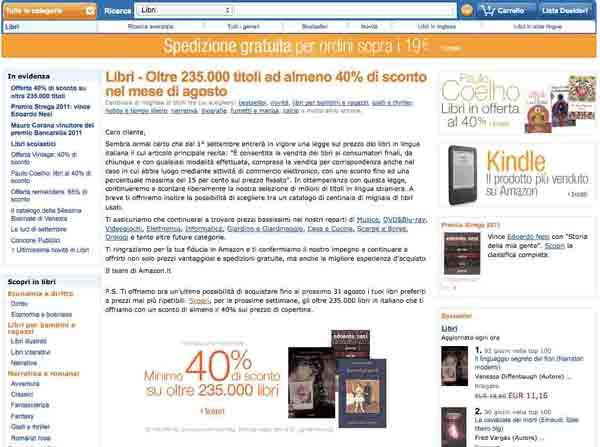 amazon sconto 40%