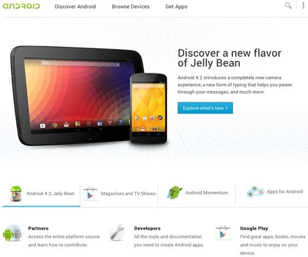 android google sito web