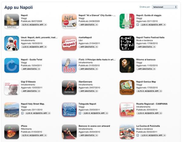 Speciale Napoli iTunes Store