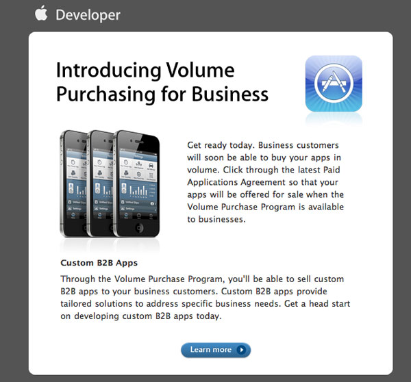 App Store Volume Puchasing for Business