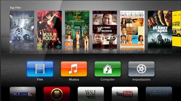 apple TV schermata