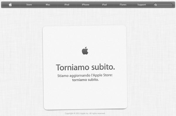 Apple Store offline chiuso
