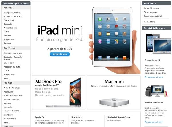 ipad mini apple store online