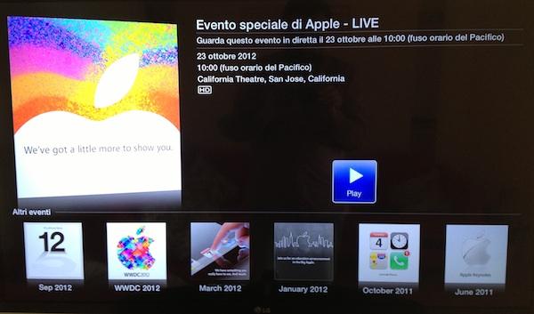 apple tv e keynote