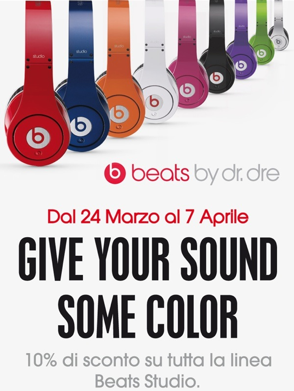 Beats by Dr. Dre Studio sconto Attiva