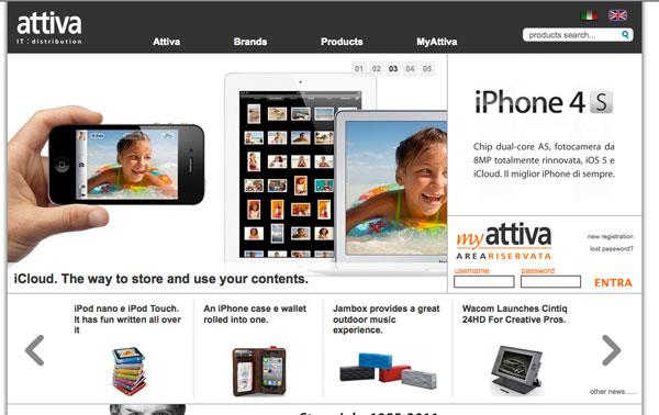 attiva home page