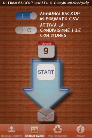 Backup contatti per iPhone