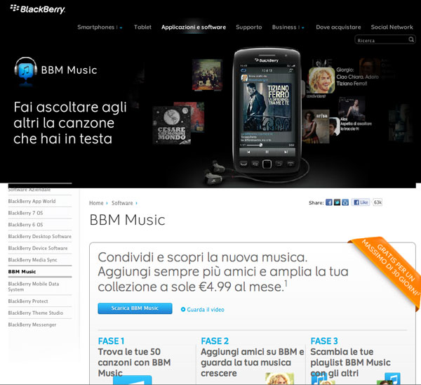 BBM Music RIM BlackBerry