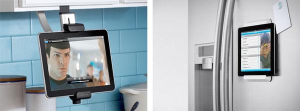 Porta-tablet per armadietti (F5L100cw) Porta-tablet per frigoriferi (F5L098cw)